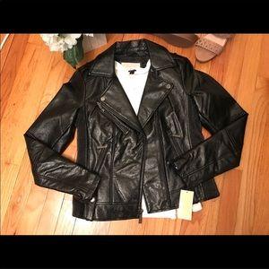 Michael KORS Faux Leather Moto